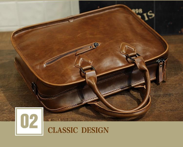HTB1gNBjhHsrBKNjSZFpq6AXhFXa9 Brand Crazy Horse PU Leather Men Briefcase Vintage 13 inch Big Business Laptop Handbag Fashion Brown Messenger Shoulder Bag Man