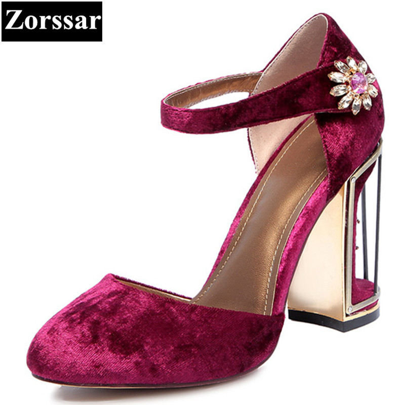 Plus Size 33-41 fashion Womens shoes women pumps high heels rhinestone sandals  purple 2017 new arrival woman summer shoes heels new 2017 spring summer women shoes pointed toe high quality brand fashion womens flats ladies plus size 41 sweet flock t179