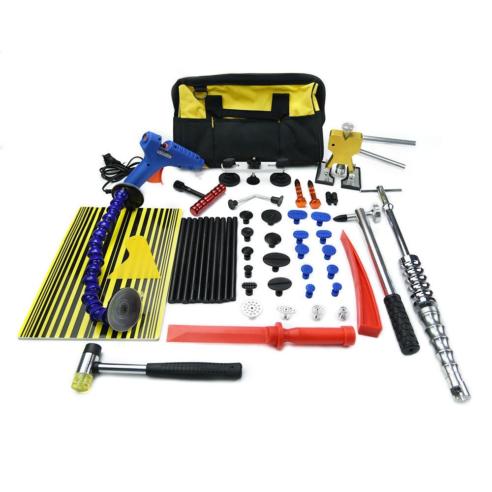 Furuix PDR Tools Kit Paintless Dent Repair Dent Removal Car Tools Repair Dent Puller LED Lamp Reflector Board Hand Tool Set