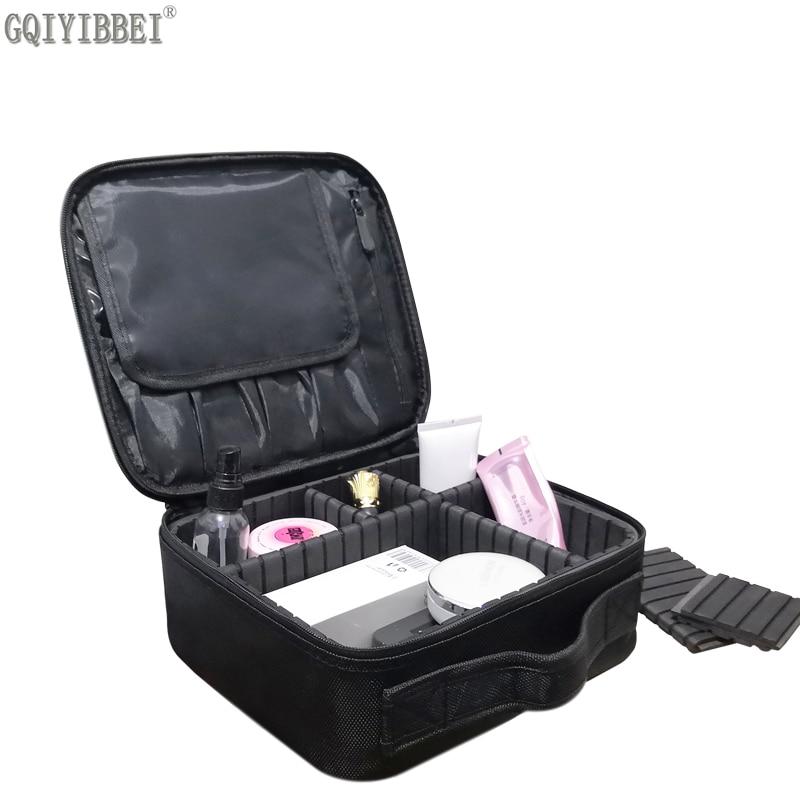 GQIYIBBEI Multilayer Boleh Tanggal Zip Kunci Kalis Air Oxford Makeup Organizer Kotak Penyimpanan Beautician Kosmetik Beg Pemegang