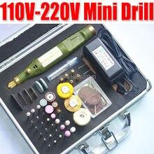 Herramientas gratuitas Envío Eléctricos, Mini Taladro, talla bruñido con 80/pcs Multifunción máquina de Grabado mini Eléctrico conjunto AC100-240V
