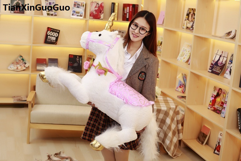 large 85cm lovely prone unicorn plush toy white unicorn soft doll hugging pillow toy birthday gift s0825 lovely glasses panda large 90cm plush toy panda doll soft hugging pillow proposal birthday gift x028