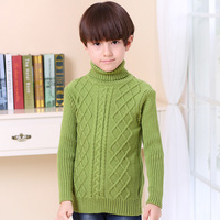 Brand Sweater For School Boys Girls Autumn Winter Sweaters Children Kids Knitted Pullover Warm Outerwear Turtleneck