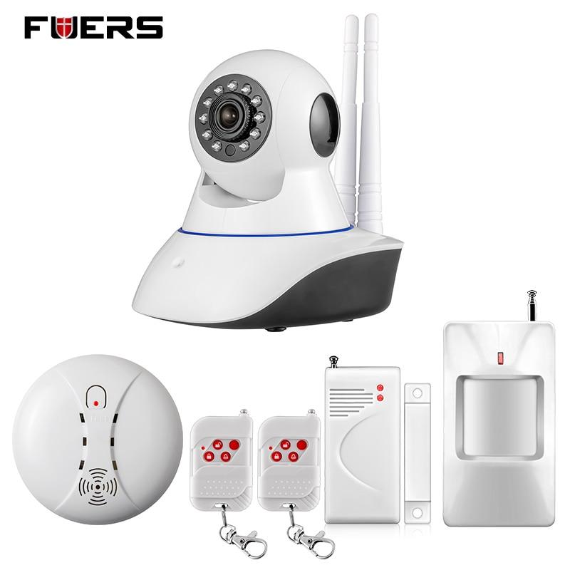 Fuers Wifi Ip Camera Home Burglar Security Smoke Fire