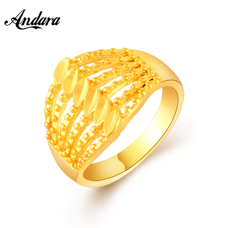 Super Cheap Gold Color Classic Women Men Rings Engagement Rings Fashion Jewelry Hot Sale 2018 New Jr066 Beautiful And Charming