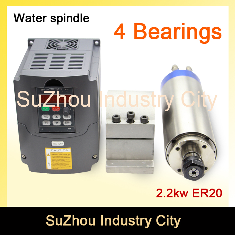 Sale CNC Spindle motor water cooling 2 2KW ER20 220v 2 2KW VFD Variable Frequency Driver