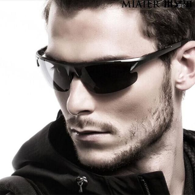 Marca alumínio e magnésio Polarized óculos para a condução óculos homens Sports óculos de sol óculos de visão noturna motorista Anti reflexo