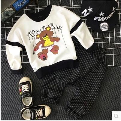 En el otoño de 2016 nuevos niños y niñas del todo-fósforo suéter impresión de la historieta de la manera remata el envío libre
