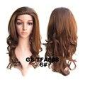 Новый бренд длинные волнистые из синтетических 3/4 парик половина парик вьющиеся-коричневый парик волос Pad 16 цветов peluca плутон
