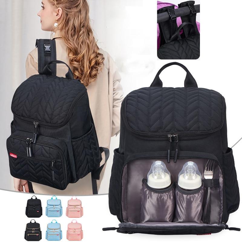 Saco de fraldas para a mãe maternidade fralda mochila carrinho de criança carrinho de bebê cuidados com o bebê organizador mudando sacos