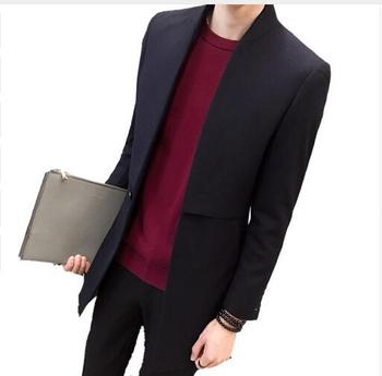 2018 New Brand Autumn Winter Stand Collar Men's Trench Business Long Trench Coat Casual Fashion
