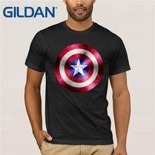 GILDAN Summer men cotton t-shirt The Avengers captain america Shield male t shirt tops tees Steve Rogers printing mens T