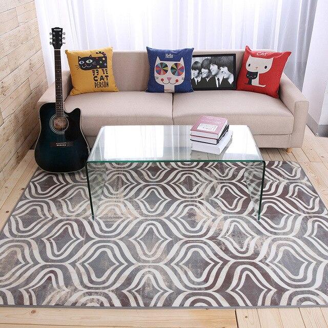 moderne gomtrique caf tabet grand tapis salon chambre chevet tapis grand tapis de sol personnalit maison - Grand Tapis Salon