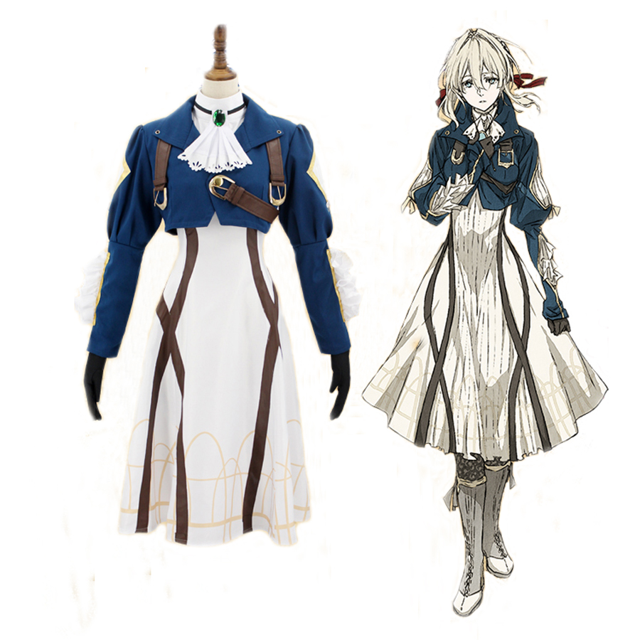 2018 Japanese Anime Violet Evergarden Cosplay Costume For Women Violet Gothic Uniforms Memory Doll Maiden Dress Suit Gown