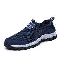 2019 nova malha ao ar livre sapatos de praia conforto respirável sapatos masculinos casuais tamanho grande 39 48 deslizamento fora da moda sapatos|Sapato casual masculino| |  -