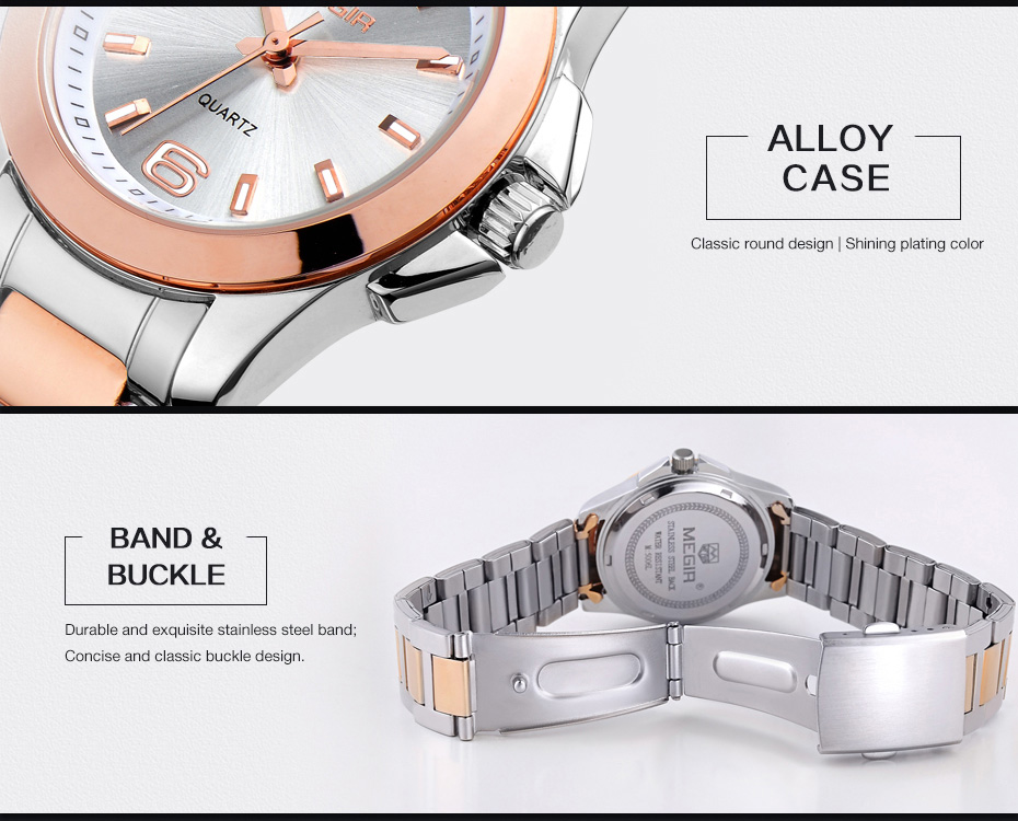 0ae5314f75b Mulheres Relógios aço inoxidável rosa de ouro Cooperation Feature   Can  Drop Shipping