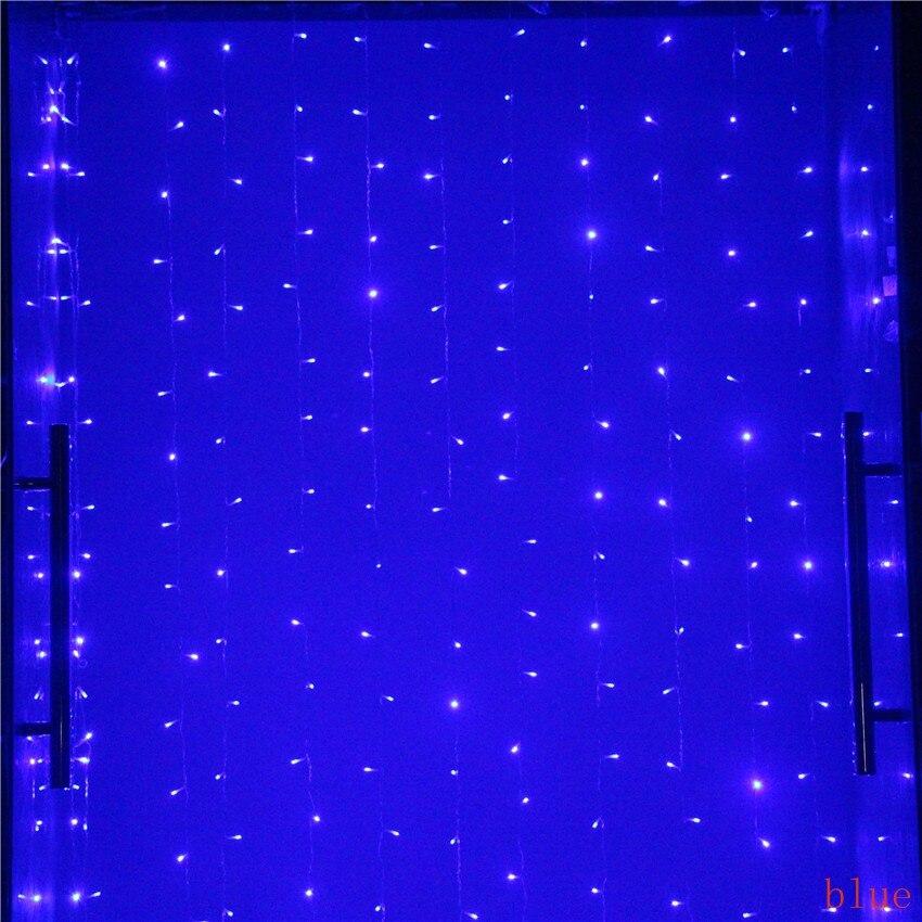 3M*3M 300 LED Curtain light string ramadan fairy lights led string lights wedding christmas guirlande party decoration outdoor