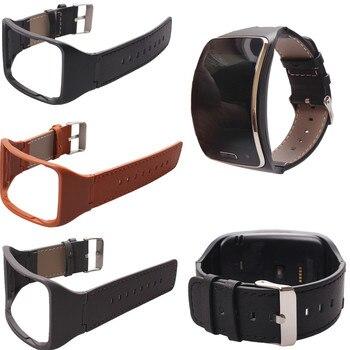Ремешок для наручных часов из натуральной кожи для Samsung Gear S SM-R750, сменный ремешок для смарт-часов Samsung Gear S SM-R750