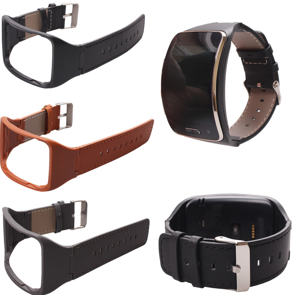 Genuine Leather Wrist Strap Watchband For Samsung Gear S SM-R750 Smart Watch стоимость