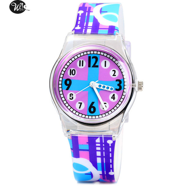 My child gift love environmental watch 3D cartoon character student watch time t