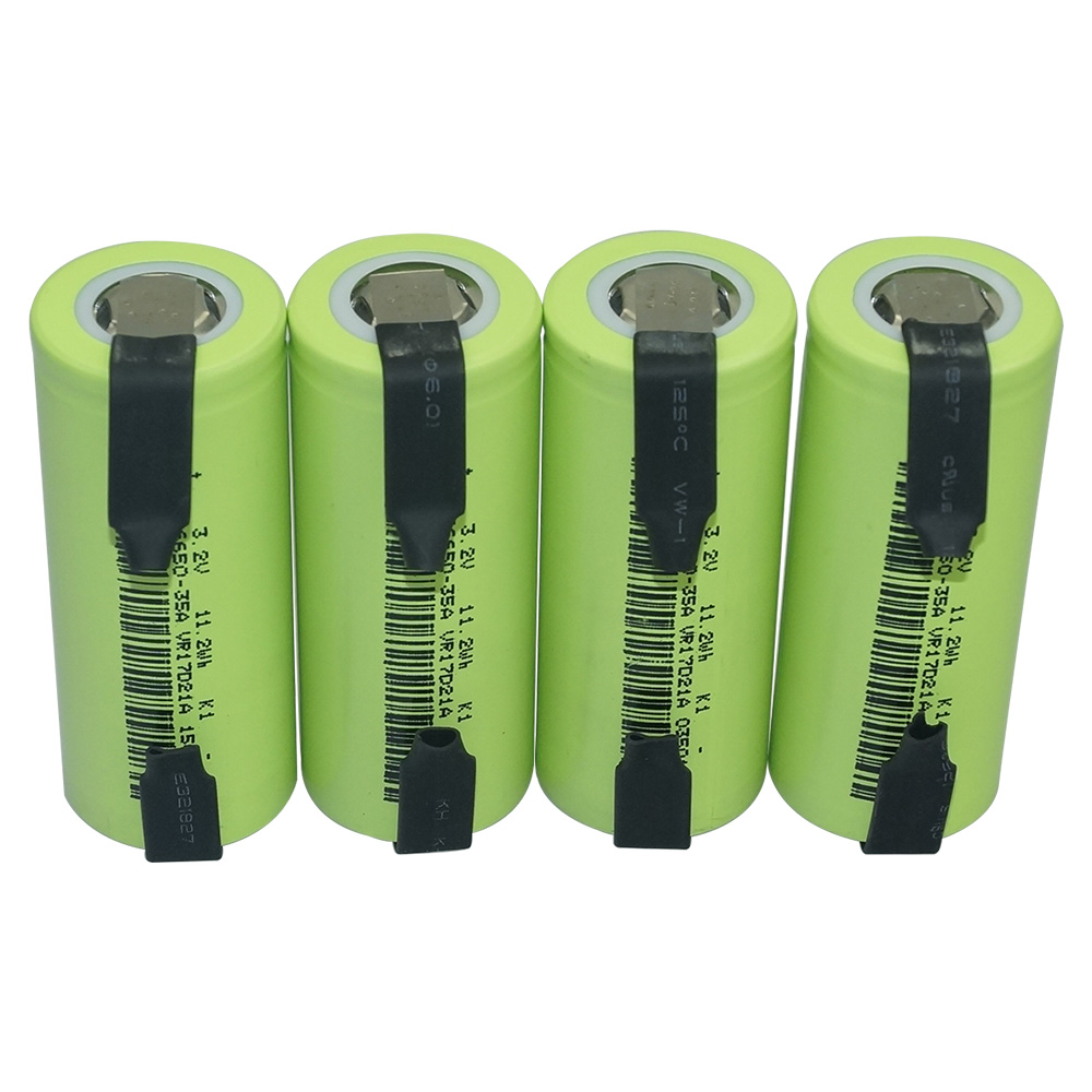 10pc 20PC 3500mAh 35A 3.2V 26650 lifepo4 rechargeable battery 10A rate discharge 11.2Wh with Nickel Sheets replacement battery