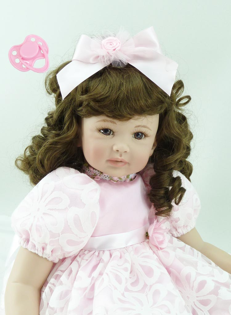 60cm Silicone Vinyl Reborn Baby Doll toys lifelike soft doll reborn babies pink princess toys for childs kids new design silicone vinyl reborn baby doll toys lifelike soft doll reborn babies pink princess toys for childs kids new design