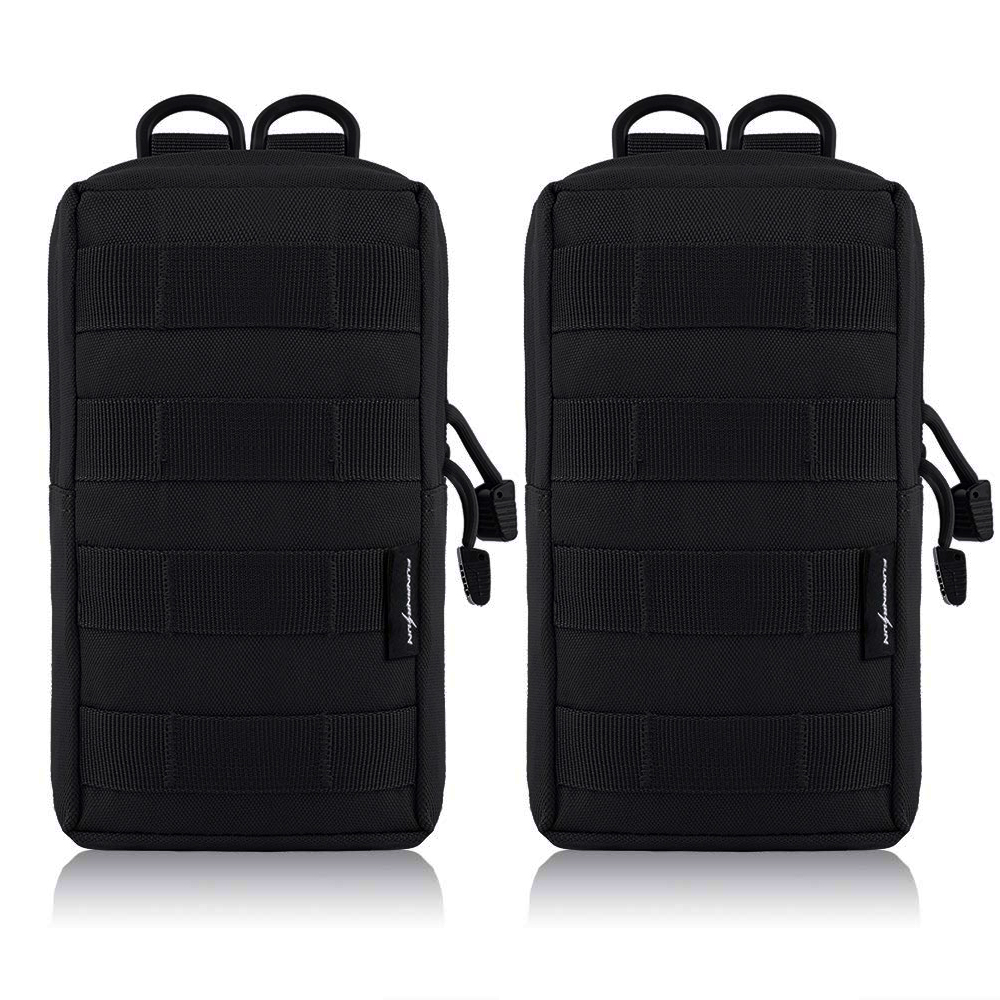 2Pcs Tactical Molle Pouches EDC Utility Pouch Gadget Gear Bag Military Vest Waist Pack Water-resistant Compact Bag2Pcs Tactical Molle Pouches EDC Utility Pouch Gadget Gear Bag Military Vest Waist Pack Water-resistant Compact Bag