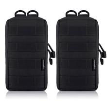 купить 2Pcs Tactical Molle Pouches EDC Utility Pouch Gadget Gear Bag Military Vest Waist Pack Water-resistant Compact Bag по цене 677.8 рублей