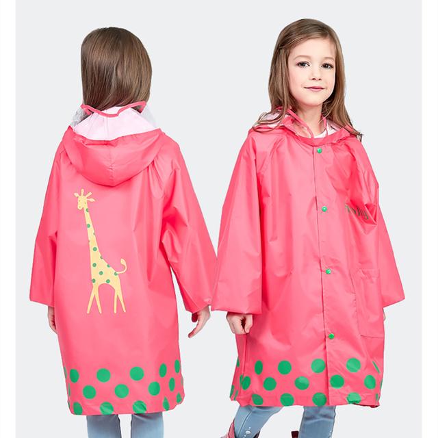 Kocotree Children Raincoat Kids Cute Capa De Chuva Infantil Waterproof Child Rain coat Cover Poncho Rainwear Hooded Impermeable