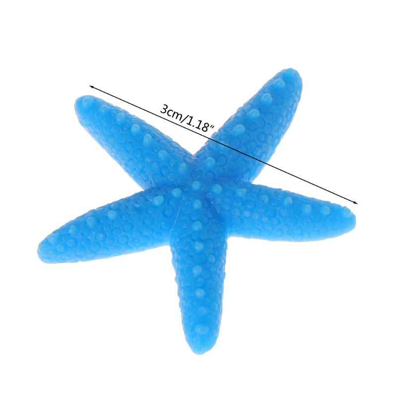 5pcs Fish Tank Artificial Colorful Starfish Decoration Aquarium Ornaments Resin
