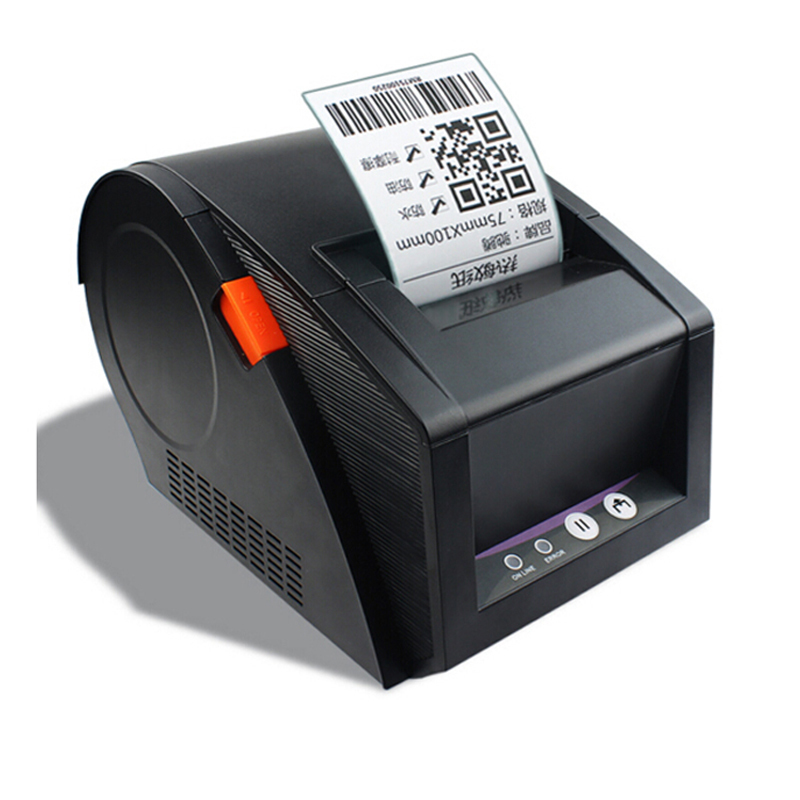 New 80mm barcode label printer 3120TU support QR code thermal sticker printers used for supermarket business office 58mm label barcode printer with direct thermal label and adhesive sticker pritner usb gp2120t for coffee store