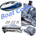 NEW Waterproof UV Protected Grey Heavy Duty 20-22ft Beam  Trailerable 210D Marine Grade Boat Cover