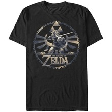 Fashion Funny  Tops Tees Zelda Men's Round Legends T-shirt Black Hipster O-neck cool tops high quality top tees