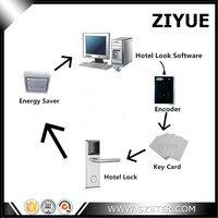 Цифровой RF карты отель замок ключ карта с Pro Usb карты Системы (1 шт. замок, 1 шт. кодер, 5 шт. карт, 1 шт., программное обеспечение)