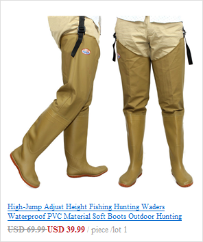 Alto-salto corpo inteiro pesca waders 0.85mm pvc