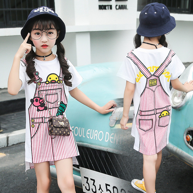 Dress for Girls Toddler Summer Princess Casual Dress 2019 Fashion Overalls Pattern 3 4 5 6 7 8 9 10 11 12 13 Years