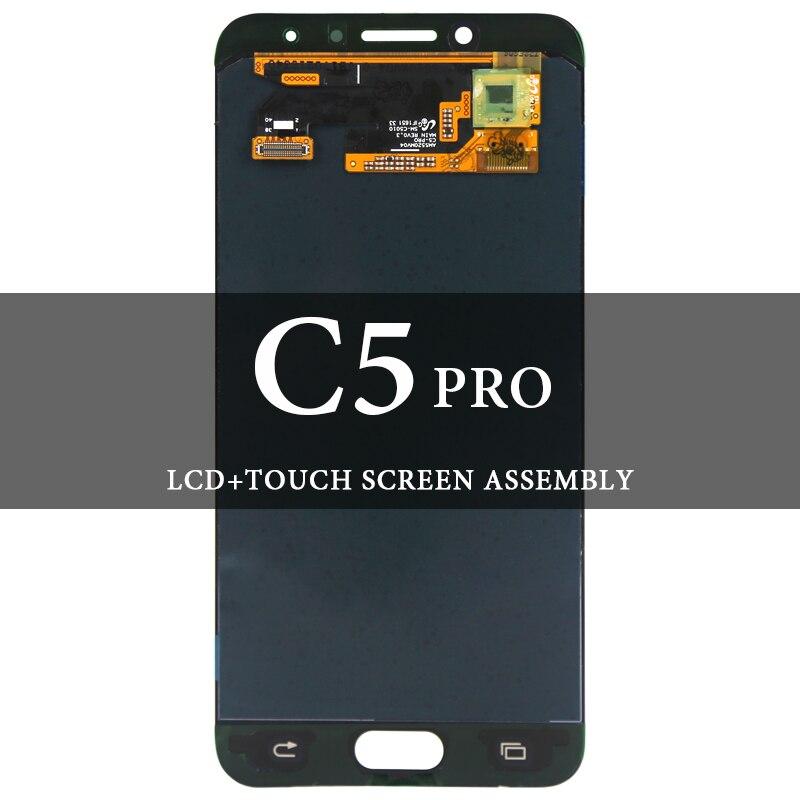 5.2 ''pour Samsung Galaxy C5 PRO C5010 LCD noir blanc bleu numériseur assemblée écran de remplacement AMOLED écran tactile