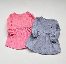 New 4 styles Girls  tiny little flower dolls Dresses  princess Long sleeve Dress wholesale 2017