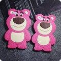 """Para iPhone 6 caso 4.7 """" rosa urso phone case capa 6 s 3D silicone tampa traseira para o iPhone 6 mais 5.5 """" bonito dos desenhos animados para iPhone6"""