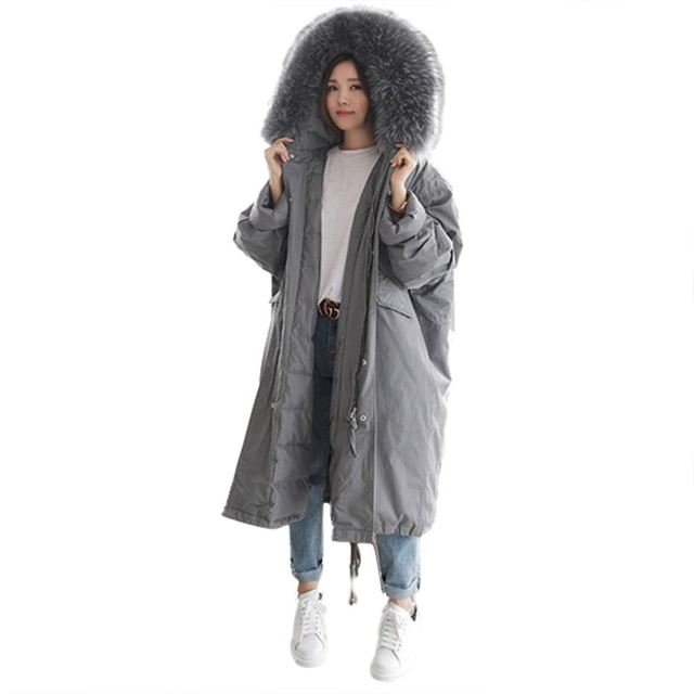 Special Price Plus Size Winter Women Jacket 2018 Thick Hooded Big Fur Collar Cotton Padded Coat Female Loose Oversized Outerwear Parkas Q124