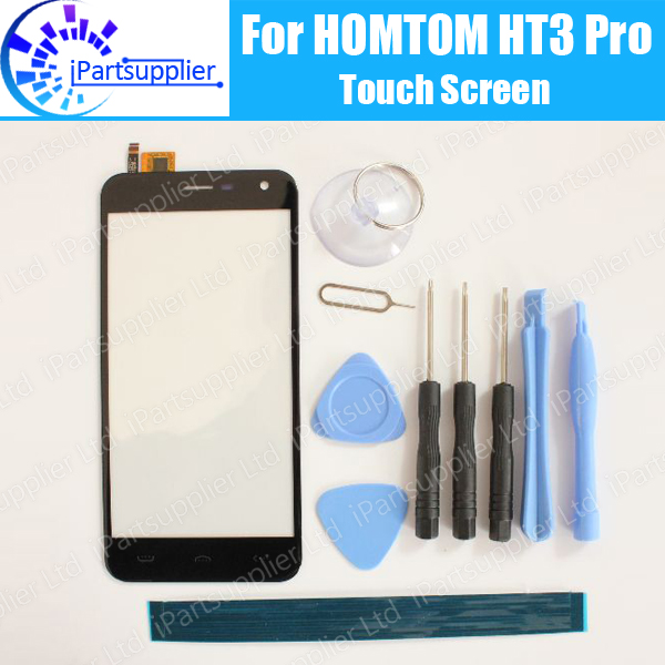 HOMTOM HT3 ProTouch Screen Digitizer 100% Guarantee Original Digitizer Glass Panel Touch Replacement For HOMTOM HT3 Pro+ Tools