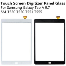 Black White Touch Screen Digitizer Panel Glass Lens For Samsung Galaxy Tab A 9.7 SM-T550 T550 T551 T555 Replacement Repair Part