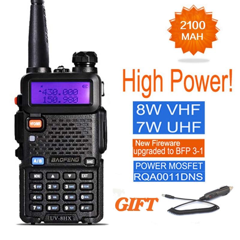 bilder für BAOFENG UV-5R 8 Watt Walkie Talkie Für Jagd UV-8HX UHF VHF Dual Band CB Ham Radio Comunicador pofung uv-5r Amateur Radio Station