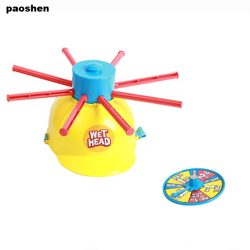 New Parents Kids Wet Head Challenge Fun Water Roulette Family Party Prank Games Toys Funny Gadgets For kid gift funny summer inflatable water games inflatable bounce water slide with stairs and blowers