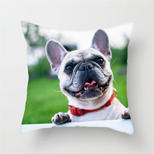 Fuwatacchi Cute Dog Printed Cushion Cover Animal Pillow Cover Bulldog Decorative Pillowcase for Home Sofa Decoration 2019 цены