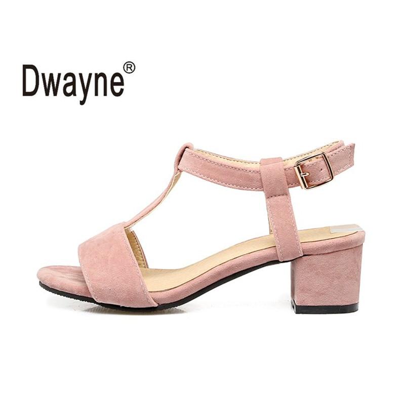 Big Size Women Flock Leather Shoes Summer Sandals Shoes Woman Sandals  chaussure femme Sandalias Mujer sandalia 5648af072bbe