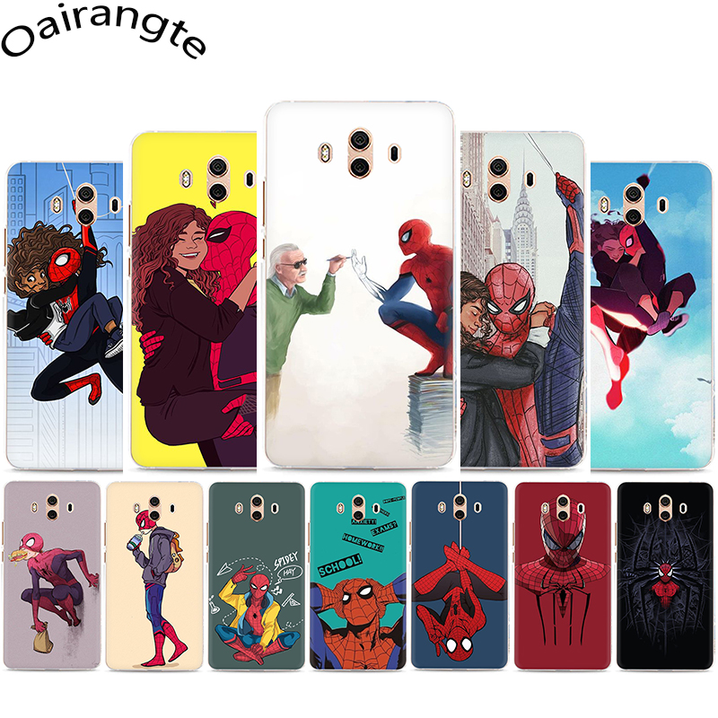 <font><b>Marvel</b></font> Superheroes SpiderMan Hard <font><b>Phone</b></font> <font><b>Case</b></font> for Huawei Y5 Y6 Y7 Prime Y9 Mate 10 20 30 Pro Lite Nova 2i 3 3i Lite 4 5i image