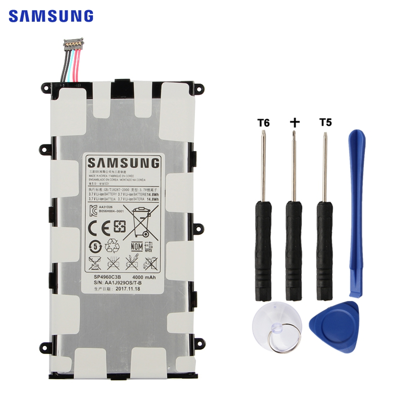 SAMSUNG Original Replacement Battery SP4960C3B For Samsung GALAXY Tab 7.0 Plus P3100 P3110 P6200 P6210 Authentic Tablet Battery new 7 inch replacement lcd display screen for samsung galaxy tab 2 7 0 p3100 p3110 tablet pc free shipping