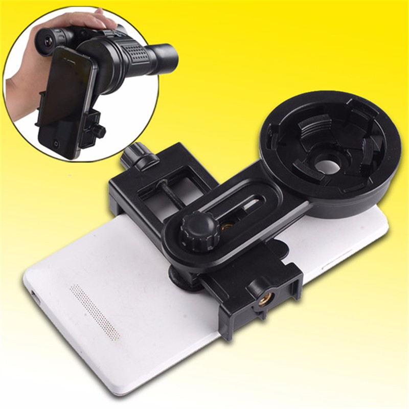 Hot Universal Telescope Camera Lens Holder Connecting 0-6 Inch Phone And 22-48mm Eyepiece For Samsung For iPhone