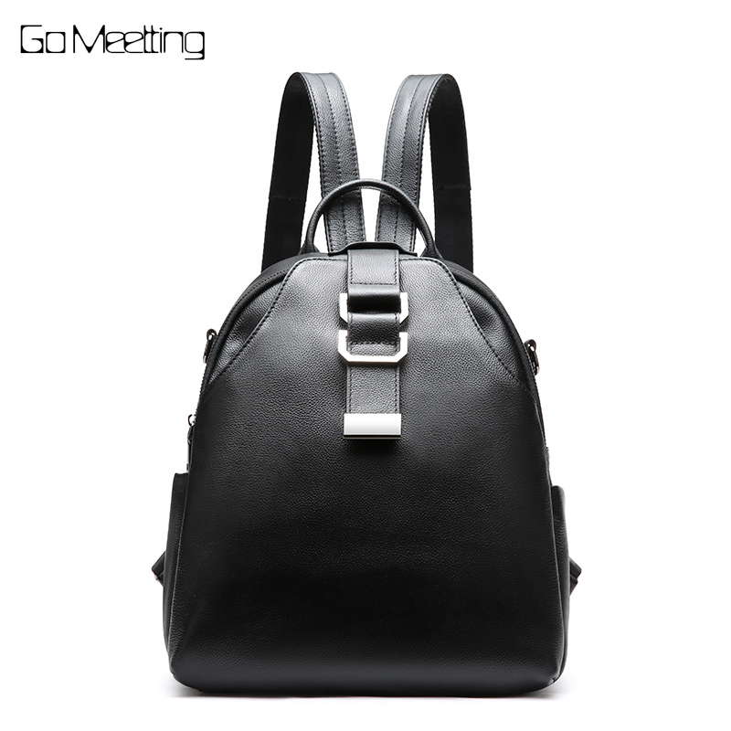 New Arrival Women Backpack 100% Genuine Leather Ladies Travel Bags Preppy Style Schoolbags For Girls Knapsack Holiday Backpacks